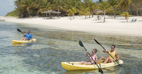 Kayaking on Cayman Brac